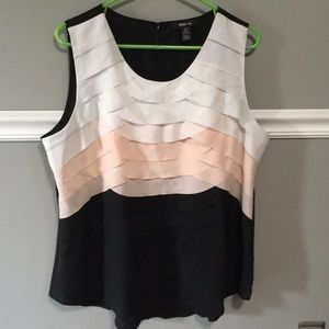 Style & Co. Tiered Ruffle Front Tank